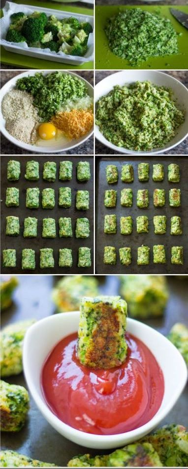 Healthy Baked Broccoli Tots are the perfect low-fat snack