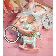 Horse Keychain Pink and Green  Favour