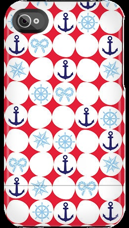 """""""Anchor Dots"""" by Nautical for the iPhone 4/4S Capsule"""