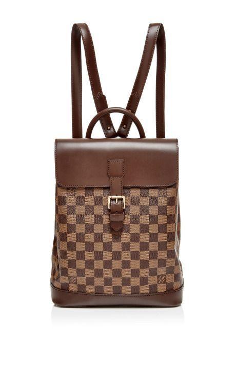 814391ca945a Vintage Louis Vuitton Damier Ebene Soho Backpack