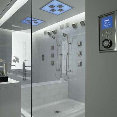 Beautiful Awesome DTV Shower That Lets You Program Your Water Pressure, Water Temp,  Steam,