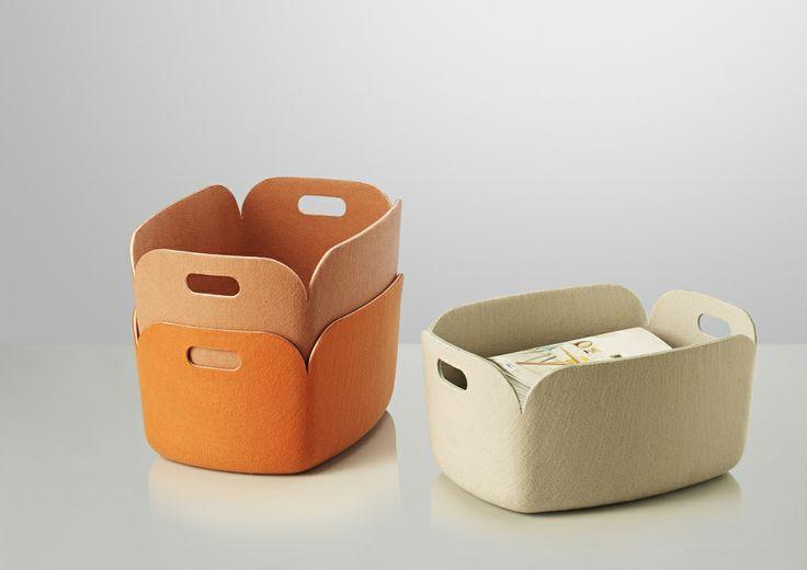 Restore filtkurve fra Muuto. Perfekt til legetøj, blade etc.