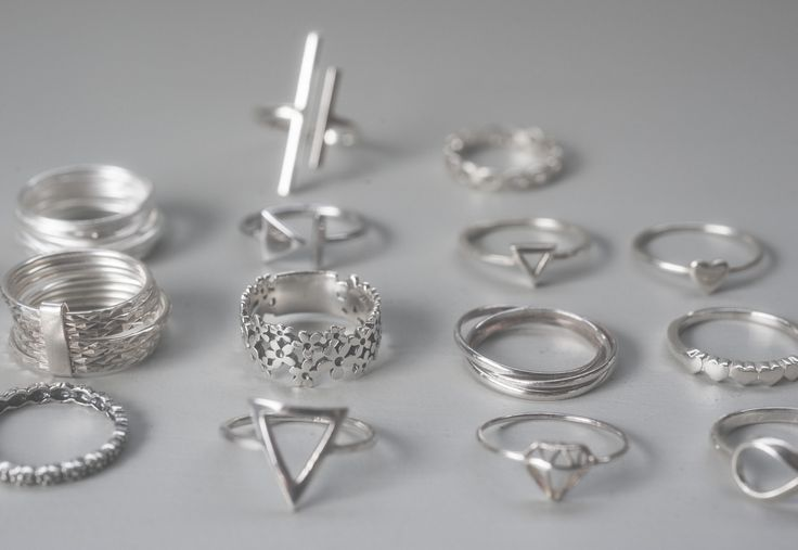 Silver rings made here in New Zealand.