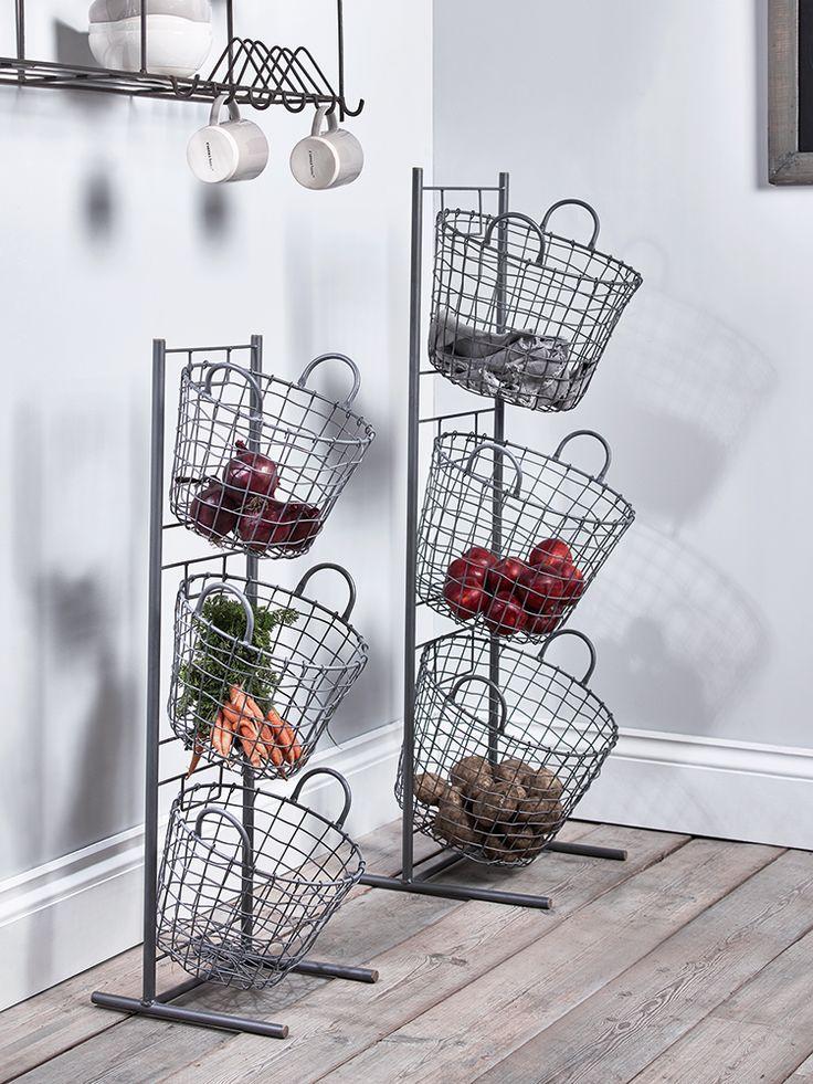 NEW Wire Tier Baskets