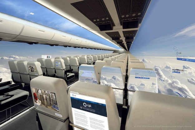 This is what the future of aviation could look like – windowless planes.