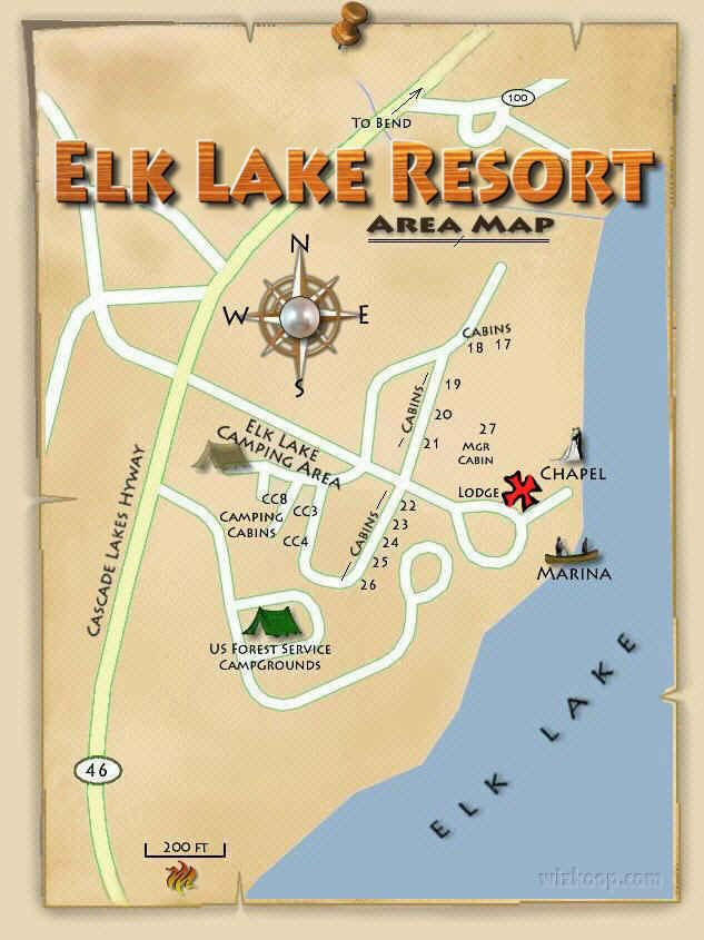 Elk Lake Resort Oregon Elk Lake Resort Area Map Eastern Oregon - Eastern oregon map