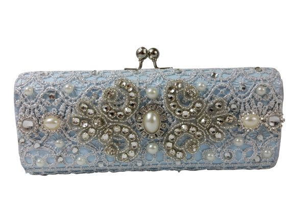 Something Blue Wedding Clutch Bag .. Blue by everlastinglifashion