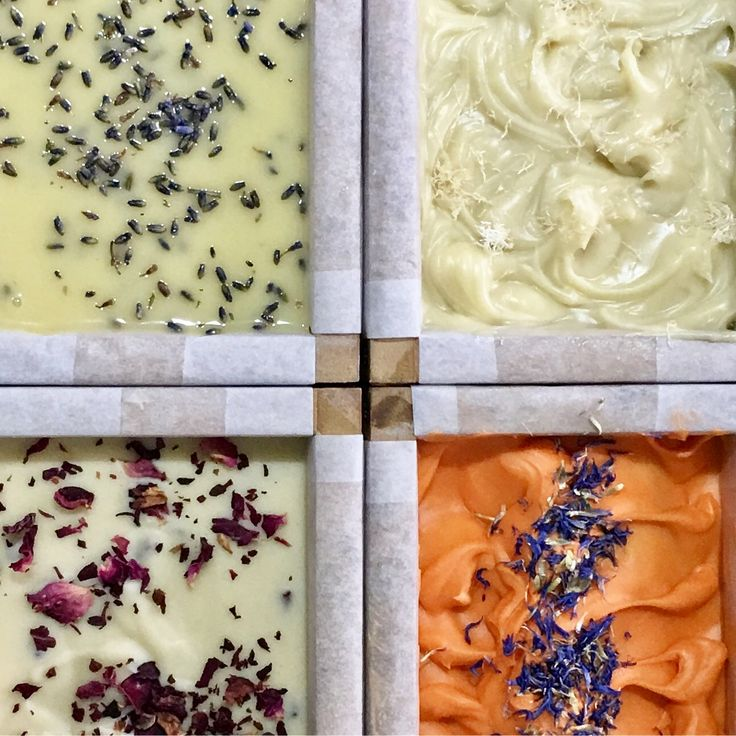 Handmade natural soap with botanical clays, rose petals, cornflowers, loofah and lavender buds. Scented with essential oils of rosewood, lavender, rosemary and sweet orange.