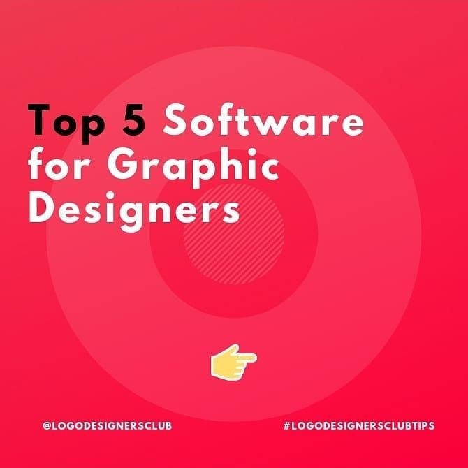 Top 5 Softwares For Graphic Designers Hey Awesome People Which Graphic Software Do You Guys Use For Designing T Graphic Design Logo Design Design Working