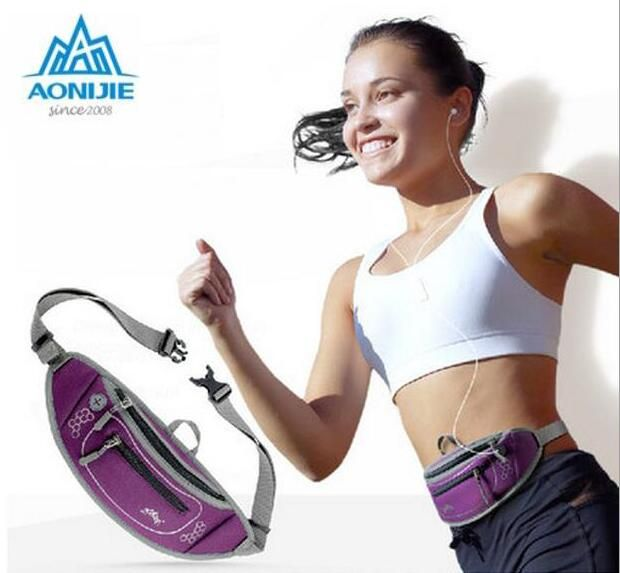 AONIJIE Running Bag Outdoor Sports Lightweight Waterproof Running Sport Waist Belt Travel Fanny Pack Money Phone Pouch