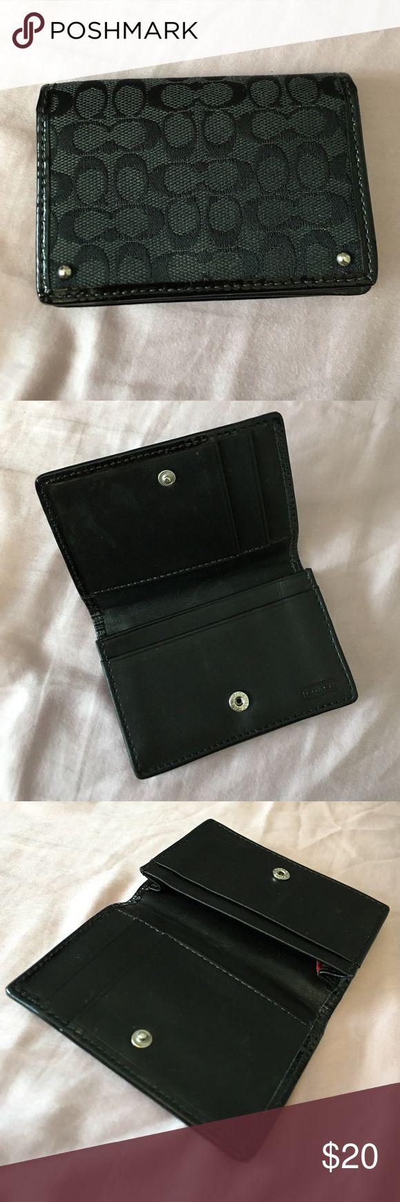 Coach black logo card holder Black Coach logo card Holder Coach Bags Wallets