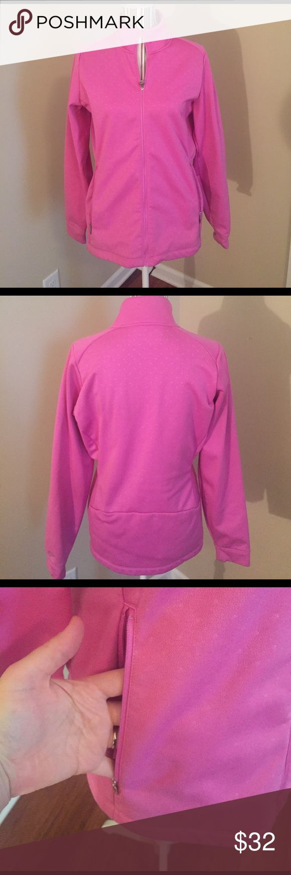 Nike Golf jacket Pink with subtle polka dot design Nike Jackets & Coats