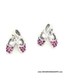 Tutù Gioielli orecchini in argento zaffiri bianchi e rossi srordg-scarp www.demarchigianotti.com