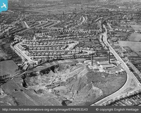 The Holly Lane Brick Works and the surrounding residential area, Erdington, 1937