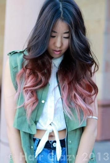 25 best beauty images on pinterest hairstyles decorate notebook faded pink dip dye hair over brownetty much exactly like this i think but darker near the ends pmusecretfo Images