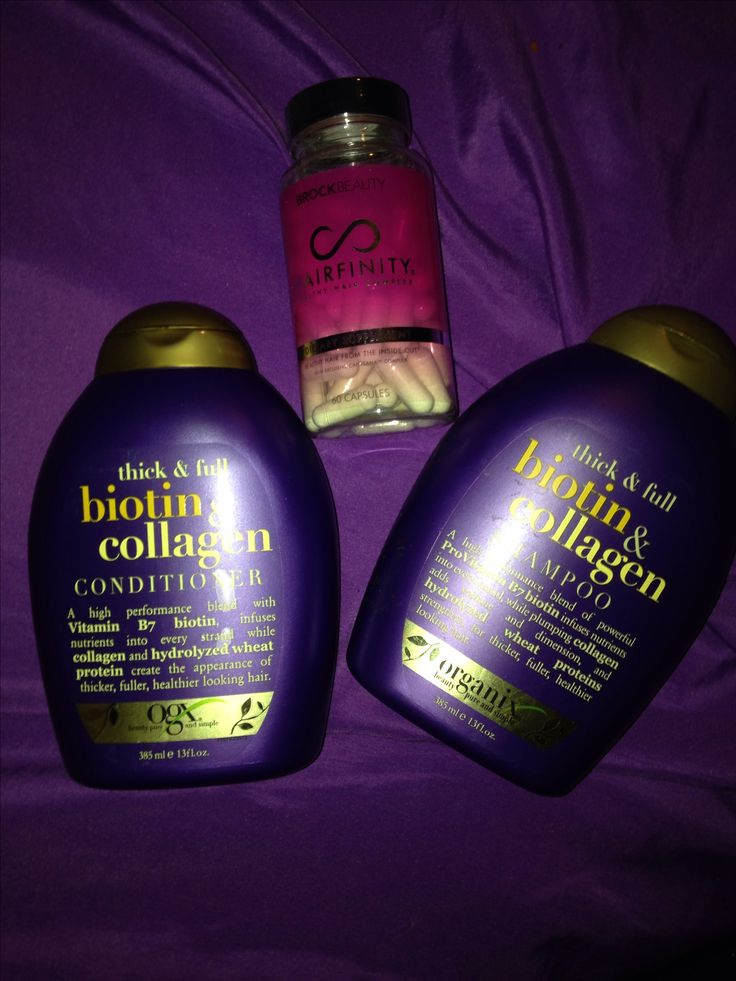 Longer healthier hair in no time ❤️ biotin shampoo and conditioner and hairfinity pills love it !!