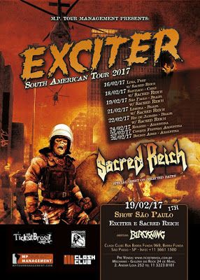 """Long Live The Loud 666: EXCITER """"SOUTH AMERICAN TOUR 2017 """" WITH SACRED RE..."""