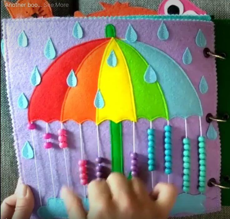 """Quiet Book """"Umbrella Page"""""""