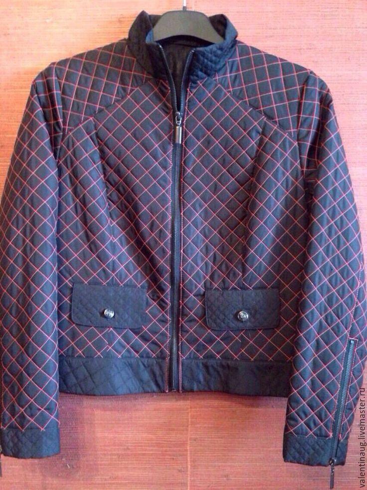 """Купить Куртка""""Моднявая"""" - черный, однотонный, куртка женская, куртка на молнии, куртка, одежда, женская одежда"""