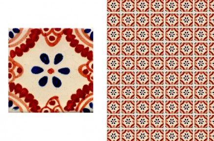 メキシコらしいモチーフで描かれた図柄が特徴のメキシコタイルです。 こちらは複数の色を使って描かれたシリーズで、  RYDB(レッド、イエロー、ダークブルー) RDB(レッド、ダークブルー) DBR(ダークブルー、レッド) DBY(ダークブルー、イエロー) YB(イエロー、ブルー) DB(ダークブルー)  のそれぞれ柄が異なる6種類あります。  工芸品のため一品ごとに手づくりでつくられており、1枚1枚表情が異なります。  精度が決して良いわけではないので、サイズの微妙なばらつきや歪み、反りがあります。  50角には無地のタイプがあり、また105角もあるので、2〜3種類を組み合わせても面白い壁になると思います。  最低購入数量について こちらの商品は10枚からご購入が可能です。複数柄でのご購入の場合は、1色あたり10枚ではなく、合計の枚数が10枚以上でご購入可能です。
