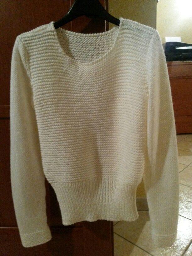 Maglione panna da donna
