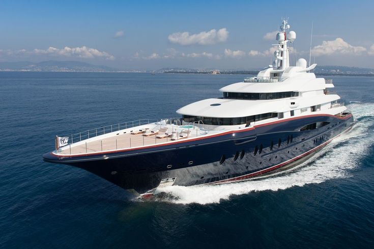 Nirvana - 88.5m Oceanco - The Nirvana is currently available for purchase at a mind-boggling €230 million, but the full package is quite impressive – an 8.5 meter ski boat, 6 jet skis, 4 waverunners and two 11 meter tenders, all being able to get onboard via a port side boarding platform.