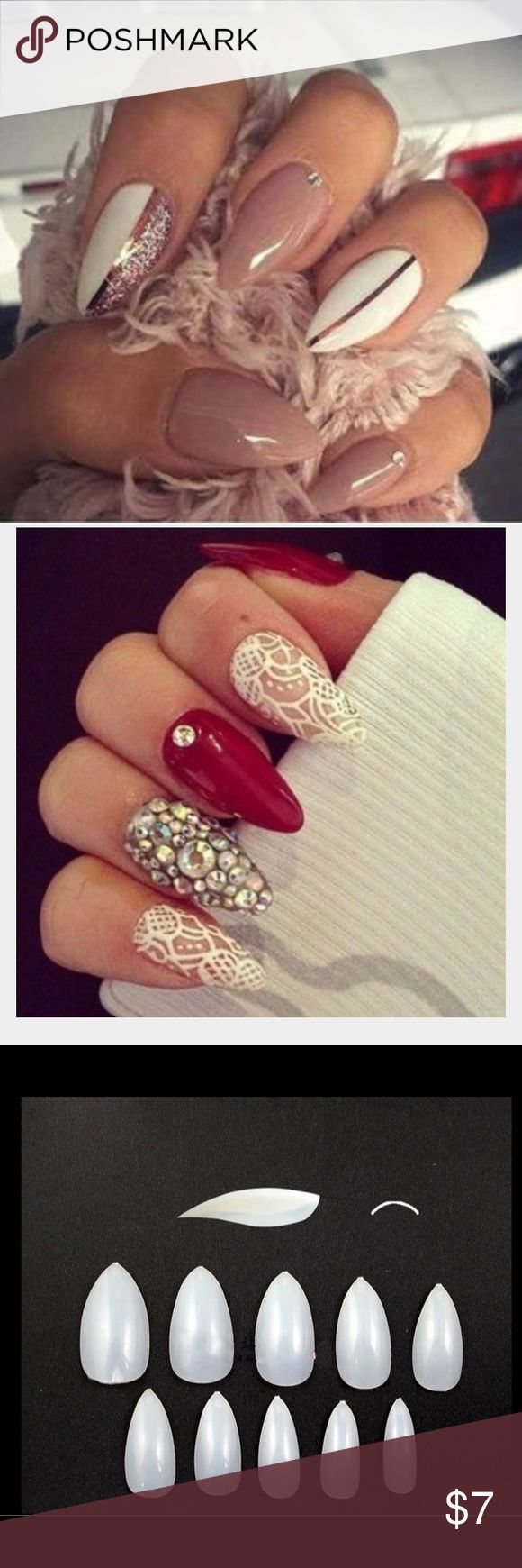 Almond Shaped Nails Very cute nails, you will get 24 pieces of natural nails the third pic is what you are buying. Accessories