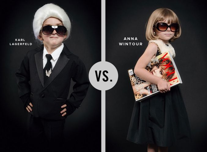Karl Lagerfeld vs. Anna Wintour Image via @Jordan Bromley Bromley Ferney | Oh Happy Day!