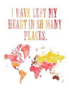 Australia, Mexico, South Africa, Hawaii, NY, California, Fiji, Japan, Italy, Spain, Portugal, France...!