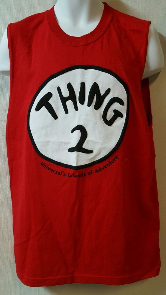 Red Sleeveless Thing 2  T shirt Tank Island of Adventure Universal Studies Seuss #Universalstudios #GraphicTee