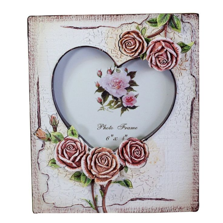 Amazon.com   Gift Garden Picture Frame   Two Heart Shaped Frame   Photo  Frame