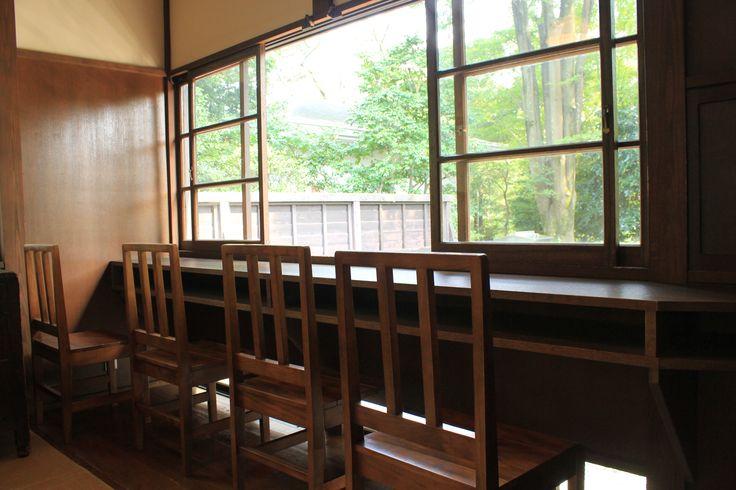 sun shining japanese old waiting room, Edo-tokyo Tatemonoen, Tokyo