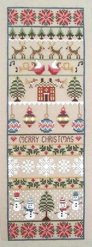 Merry Christmas Sampler Cross Stitch Kit | sewandso
