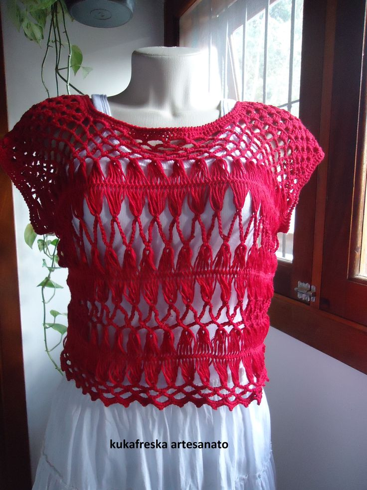 Blusa   Hairpin lace top