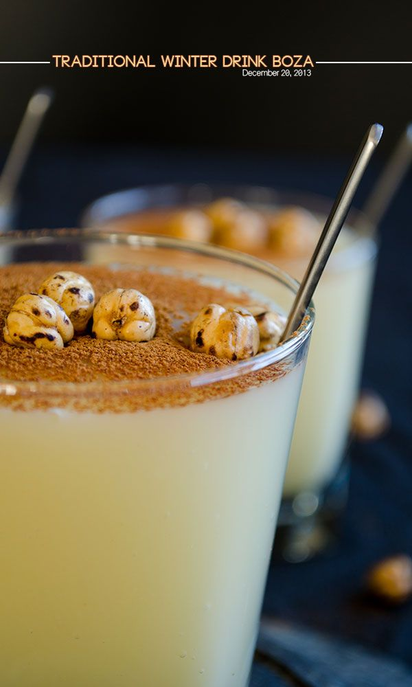 Traditional Turkish Winter Drink Boza | giverecipe.com | #boza #drink #turkish