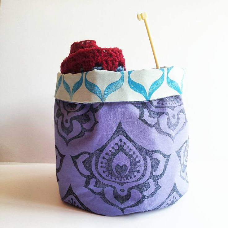 stand up fabric bag, perfect for my crochet project.
