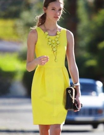 Uzun sarı elbise