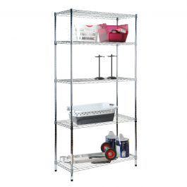 5 Tier Wire Shelf - Chrome