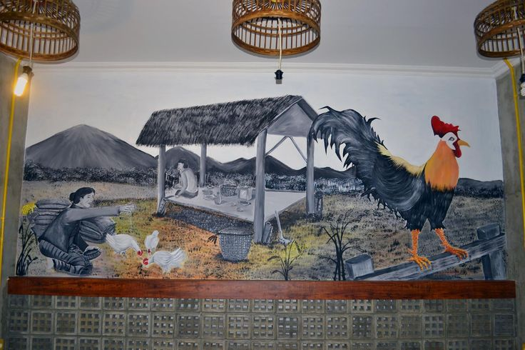 comercial mural in ontel cafe jakarta