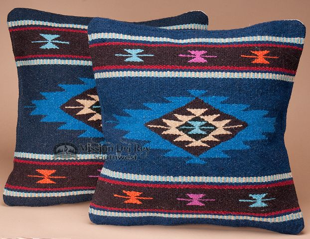 Mission Del Rey Southwest - Pair Southwestern Pillow Cover 18x18 -Mescalero Pattern, $49.95