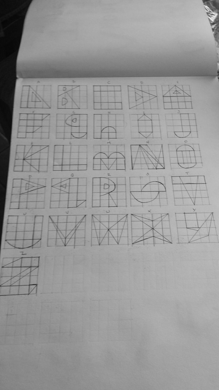 Making letters out of shapes