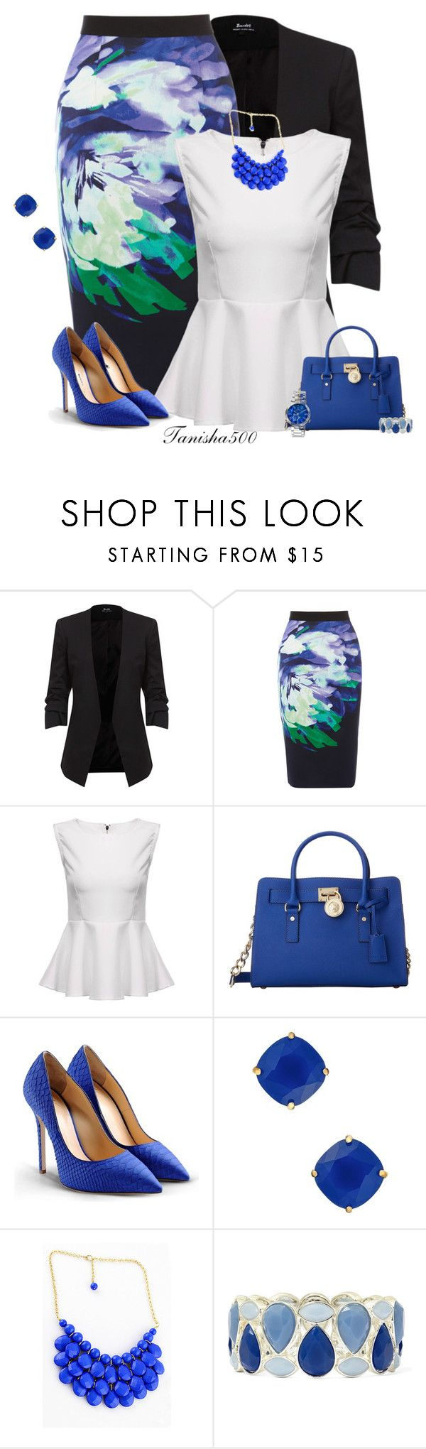 """Coast Clancy Skirt!!:)"" by tanisha500 ❤ liked on Polyvore featuring Coast, MICHAEL Michael Kors, Giuseppe Zanotti, Kate Spade, Liz Claiborne and Porsamo Bleu"