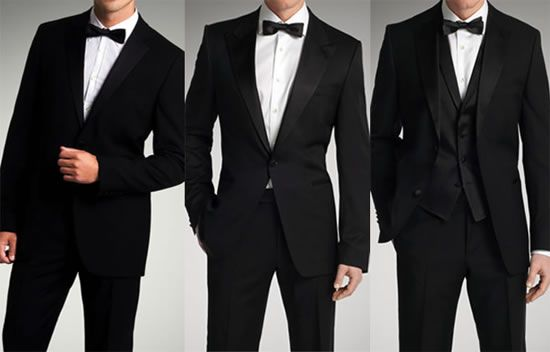 3 estilos diferentes de esmoquin (smokings) de Hugo Boss