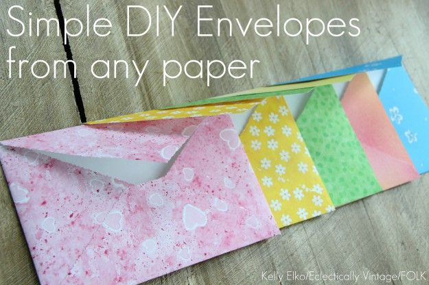 "how to make pretty envelopes... write letters to correspond with each envelope's ""mood"" and give to someone for them to open when they're feeling happy, sad, etc."