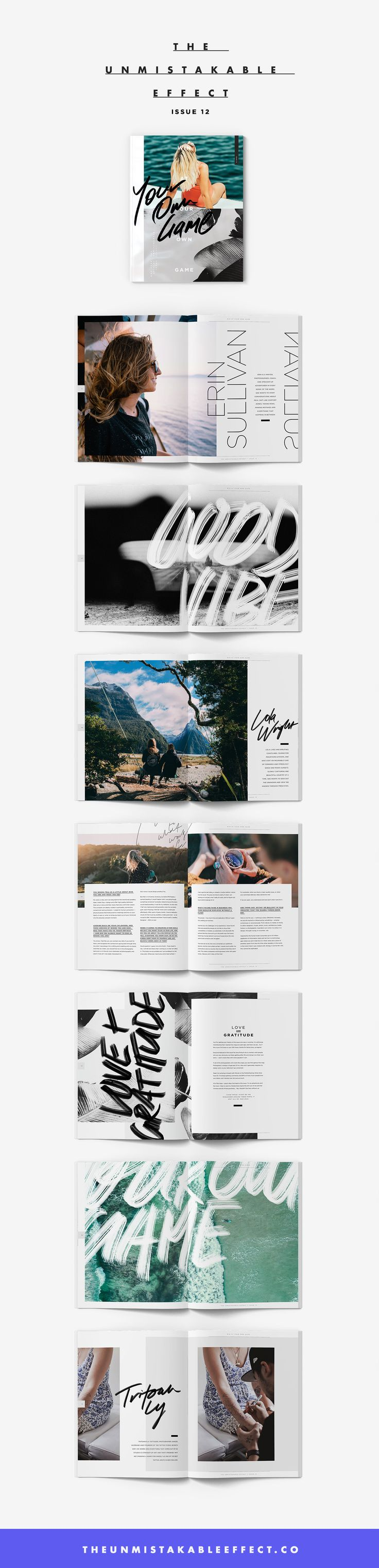 The Unmistakable Effect Issue 12 | Feat. Erin Sullivan, Rachel Ricketts, Jess Quinn, Lola Wright, Alexandra Olsen (Violet Gray), Tritoan Ly (Seventh Day Studio), and Steph Jagger | http://theunmistakableeffect.co/issue-12