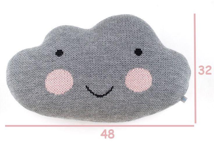 Knit Cloud Pillow   BRIGHT BLUE by kokokoshop on Etsy, $50.00