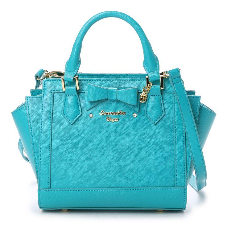 Samantha Thavasa サマンサベガ サマンサベガ リボンパスケース付きバッグ 小(エメラルドグリーン) -靴とファッションの通販サイト ロコンド