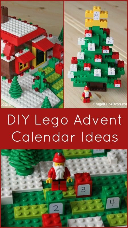 Advent Calendar Christmas Countdown Ideas for Kids - Three ways to build a Christmas countdown with Legos!