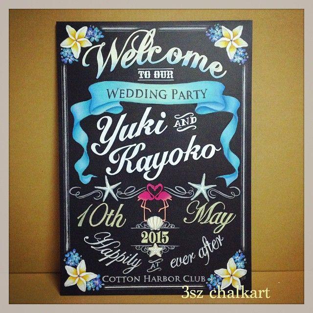 流行りの黒板でリゾート風に♡夏の結婚式に♡ハワイアンなウェルカムボード一覧♡                                                                                                                                                                                 もっと見る