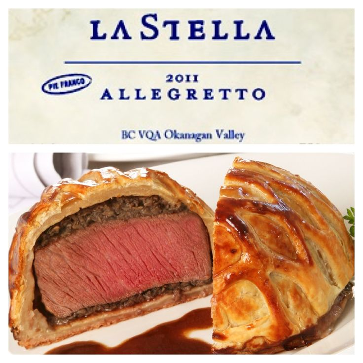A Wine & Food Pairing from Alex (our Wine Club Manager & Tasting Room Supervisor) at our sister winery La Stella:  Wine - Allegretto 'Pie Franco' Merlot (a wine club exclusive) Food - Beef Wellington $65 (sold out) - http://www.lastella.ca/product/rosso/2011-allegretto-pie-franco/